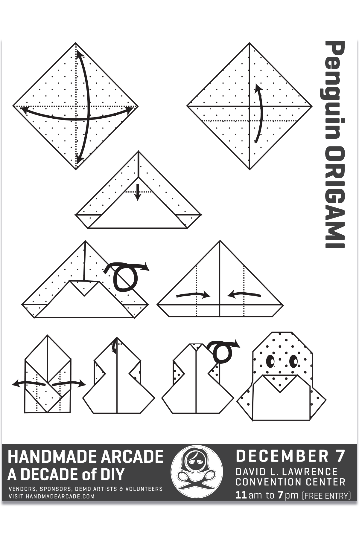 Crafting coloring card created for various outreach events