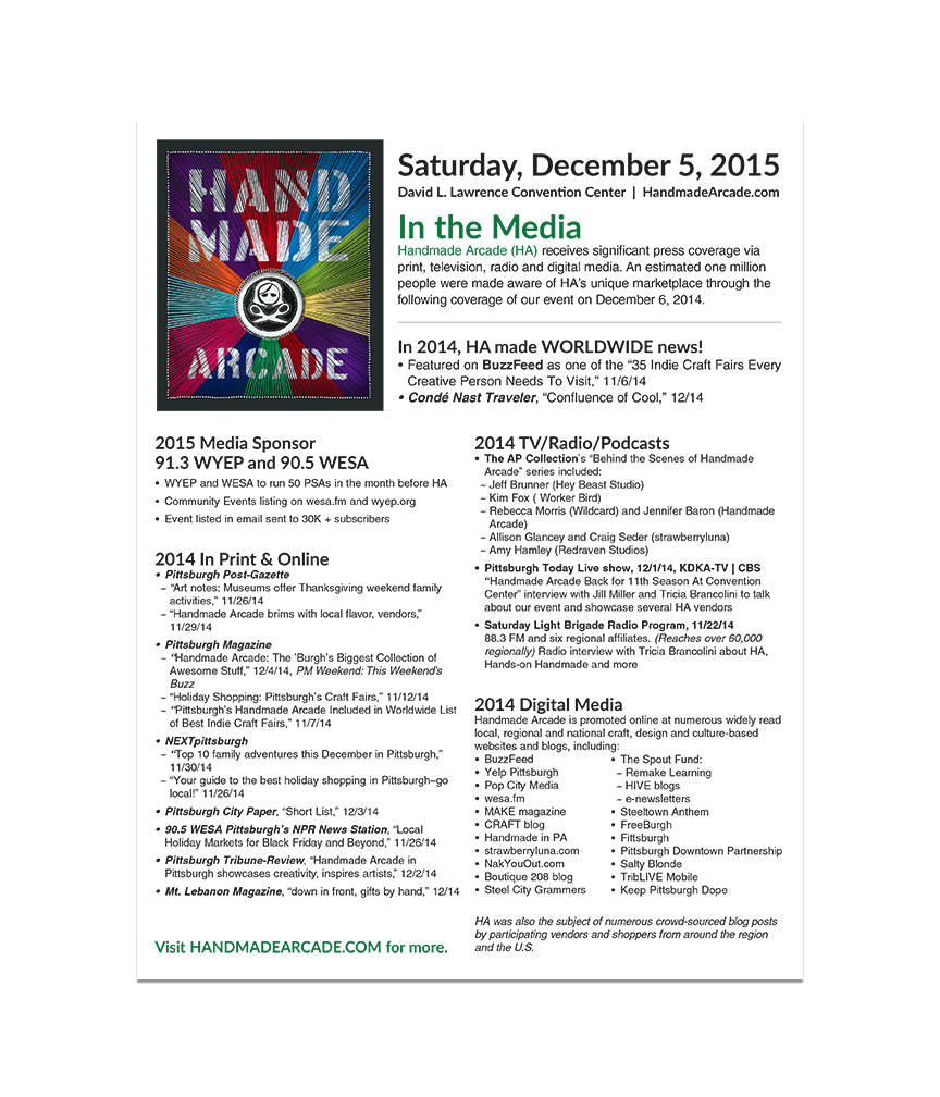 2015 In the Media Fact Sheet