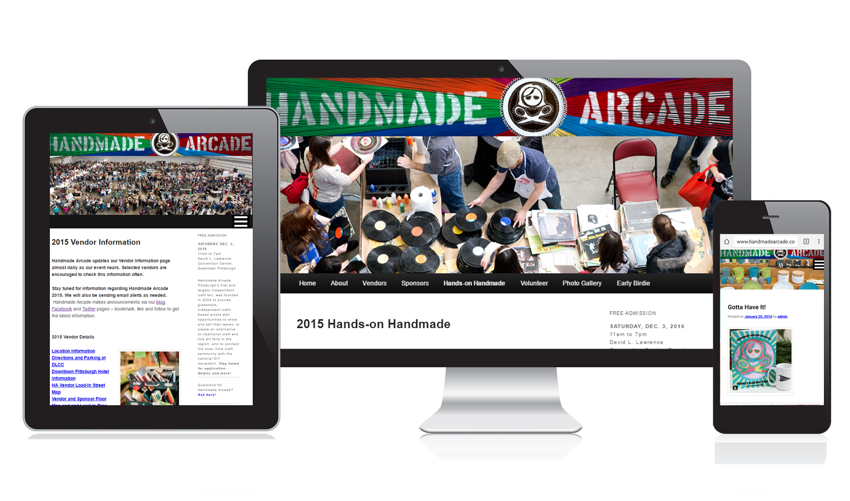 Handmade Arcade Web Site