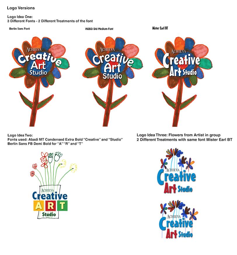 Creative Art Studio Logo Verions