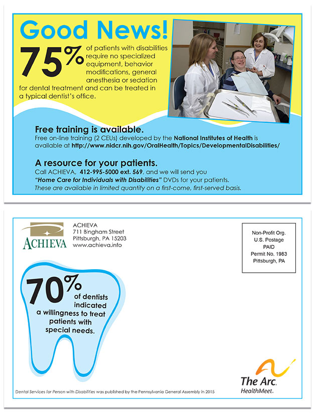Mailer sent to dentists (8.5 x 5.5)