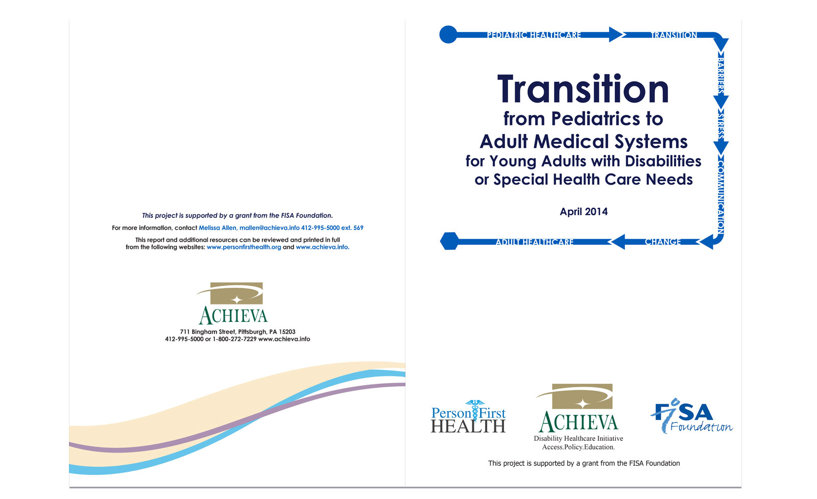 Transition from Pediatrics to Adult front and back covers