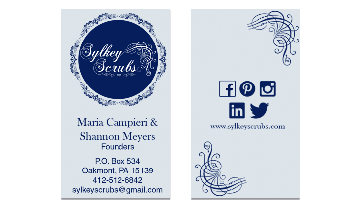 Front and back business cards