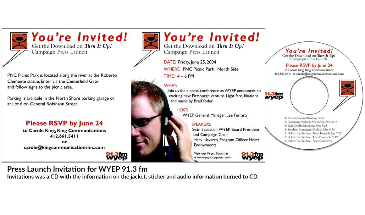 WYEP 91.3 fm CD invitation